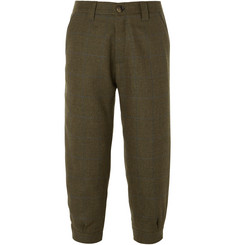 Musto Shooting - Tapered Cropped Checked Wool-Blend Tweed Breeks Trousers