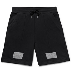John Elliott Slim-Fit Panelled Loopback Cotton-Jersey Shorts