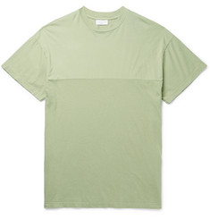 John Elliott Panelled Cotton-Jersey T-Shirt