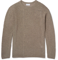John Elliott Panelled Open-Knit Cotton-Blend Sweater