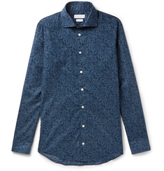 Richard James Slim-Fit Printed Cotton-Poplin Shirt