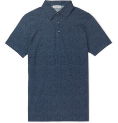 Richard James - Printed Cotton-Jersey Polo Shirt