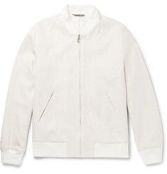 Richard James - Linen and Cotton-Blend Bomber Jacket