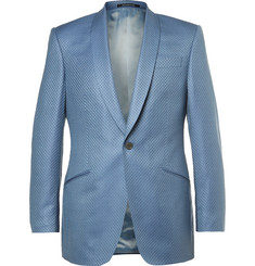 Richard James Blue Slim-Fit Super 130s Silk and Wool-Blend Jacquard Suit Jacket