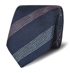Richard James 7.5cm Striped Woven Silk Tie