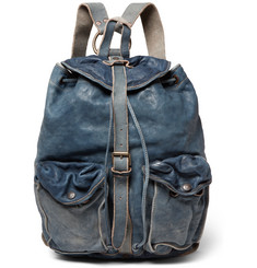 RRL Riley Washed-Leather Backpack