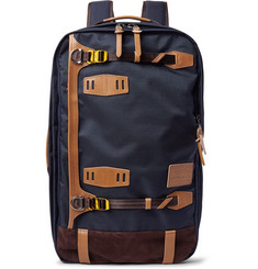 Master-Piece Potential Waterproof Leather and Suede-Trimmed CORDURA Convertible Bag