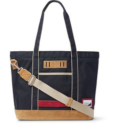 Master-Piece Suede-Trimmed Nylon Tote Bag