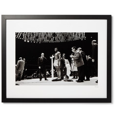 "Sonic Editions - Framed Muhammad Ali, The Weigh-In Giclée Print, 17"" x 21"""