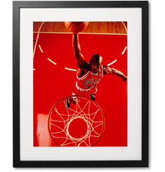 "Sonic Editions - Framed Michael Jordan, Red Dunk Giclée Print 17"" x 21"""