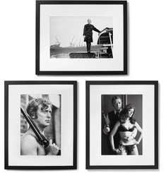 "Sonic Editions - Framed Get Carter Triptych Prints, 17"" X 21"""