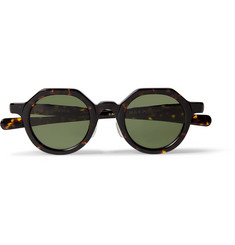 Max Pittion Diplomat Round-Frame Tortoiseshell Acetate Optical Glasses