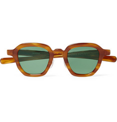 Max Pittion Bronson Square-Frame Tortoiseshell Acetate Sunglasses