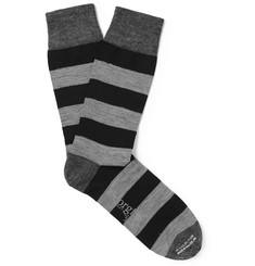 Kingsman + Corgi Striped Wool-Blend Socks