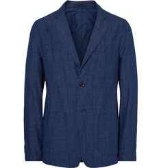 Todd Snyder - Blue Unstructured Indigo-Dyed Slub Cotton and Linen-Blend Blazer