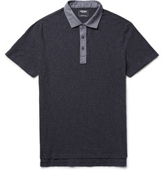 Todd Snyder Oxford-Trimmed Slub Cotton Polo Shirt
