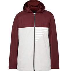 Under Armour Sportswear Coxswain Bonded Ripstop and Cotton-Blend Twill Hooded Jacket