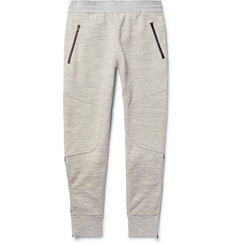 Under Armour Sportswear Pivot Slim-Fit Tapered Shell-Panelled Jersey Sweatpants