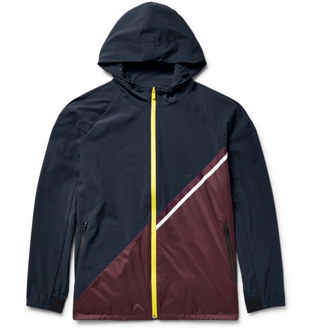 Meters Colour-block Shell Hooded Jacket