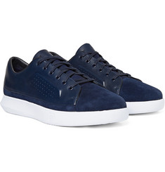 Under Armour Sportswear - Club Suede, Leather and Stretch-Jersey Sneakers