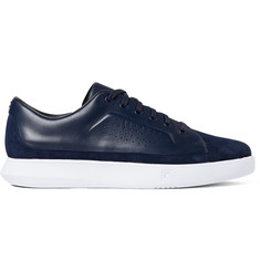 Under Armour Sportswear Club Suede, Leather and Stretch-Jersey Sneakers