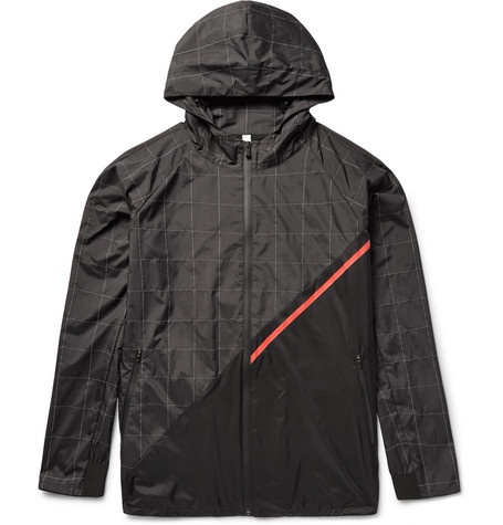 Meters Panelled Shell Hooded Jacket