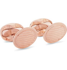 Kingsman - + Deakin & Francis Rose Gold-Plated Sterling Silver Cufflinks