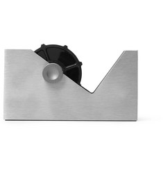 Tom Dixon Cube Brushed Silver-Tone Tape Dispenser