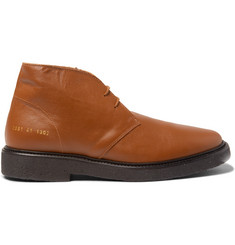 Common Projects Saffiano Leather Desert Boots