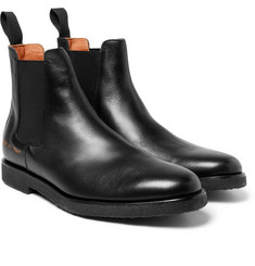Common Projects Saffiano Leather Chelsea Boots