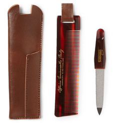 Buly 1803 - Horn-Effect Acetate Comb and Nail File Travel Kit
