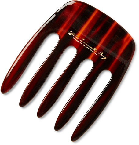 HORN-EFFECT ACETATE PICK COMB from MR PORTER
