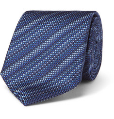 Turnbull & Asser 8cm Striped Silk-Jacquard Tie