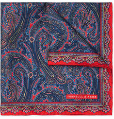 Turnbull & Asser - Paisley-Print Silk-Twill Pocket Square