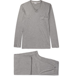 Zimmerli - Mélange Mercerised Cotton-Jersey Pyjama Set
