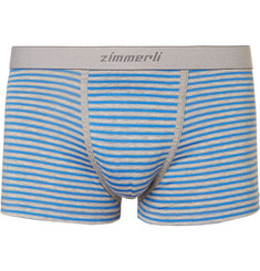 Zimmerli Striped Mélange Stretch-Cotton Boxer Briefs