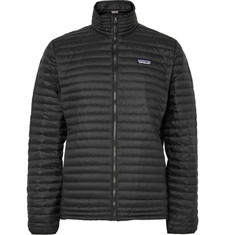 Patagonia Quilted Shell Down Jacket In Black