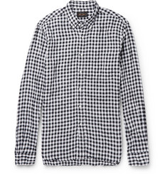 Beams Plus Button-Down Collar Gingham Linen Shirt