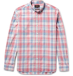 Beams Plus Slim-Fit Button-Down Collar Checked Cotton Shirt