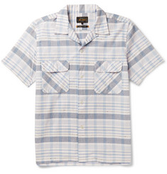 Beams Plus Camp-Collar Checked Cotton-Dobby Shirt
