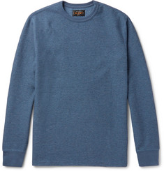 Beams Plus Waffle-Knit Cotton Sweatshirt