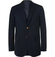 Beams Plus Blue Slim-Fit Wool-Blend CORDURA Blazer