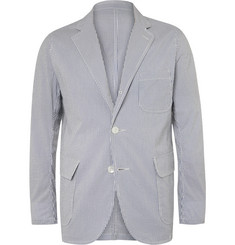 Beams Plus Blue Striped COOLMAX Seersucker Blazer