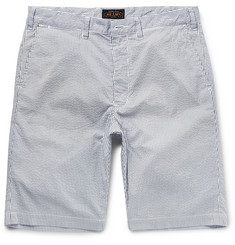 Beams Plus - Slim-Fit Striped Seersucker Shorts