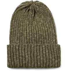 Beams Plus - Ribbed Linen and Cotton-Blend Beanie
