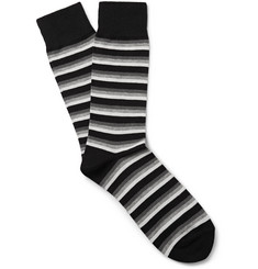 Beams Plus - Striped Cotton-Blend Socks