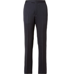 Favourbrook - Blue Slim-Fit Grosgrain-Trimmed Wool Tuxedo Trousers