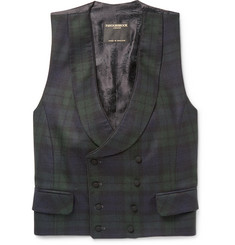 Favourbrook Double-Breasted Checked Wool Waistcoat