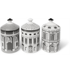 Fornasetti - Ordine Architettonico Scented Candle Set, 3 x 300g