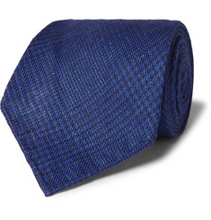 Emma Willis Prince Of Wales Checked Linen Tie